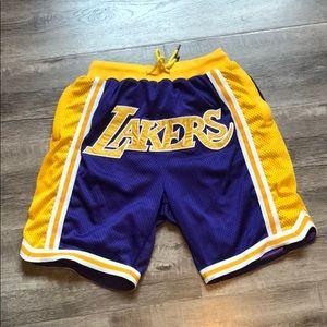 New high quality LA Lakers shorts